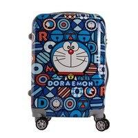 Doraemon мультфильм багаж путешествия Детский чемодан на колесиках Универсальный колеса ребенок багаж сумка Джингл кошки багаж