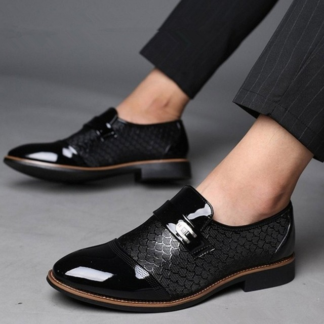 2019 Fashion men casual shoes Business Leather Shoes Casual Pointed Toe Shoe Male Suit Shoes herenschoenen instappers#G