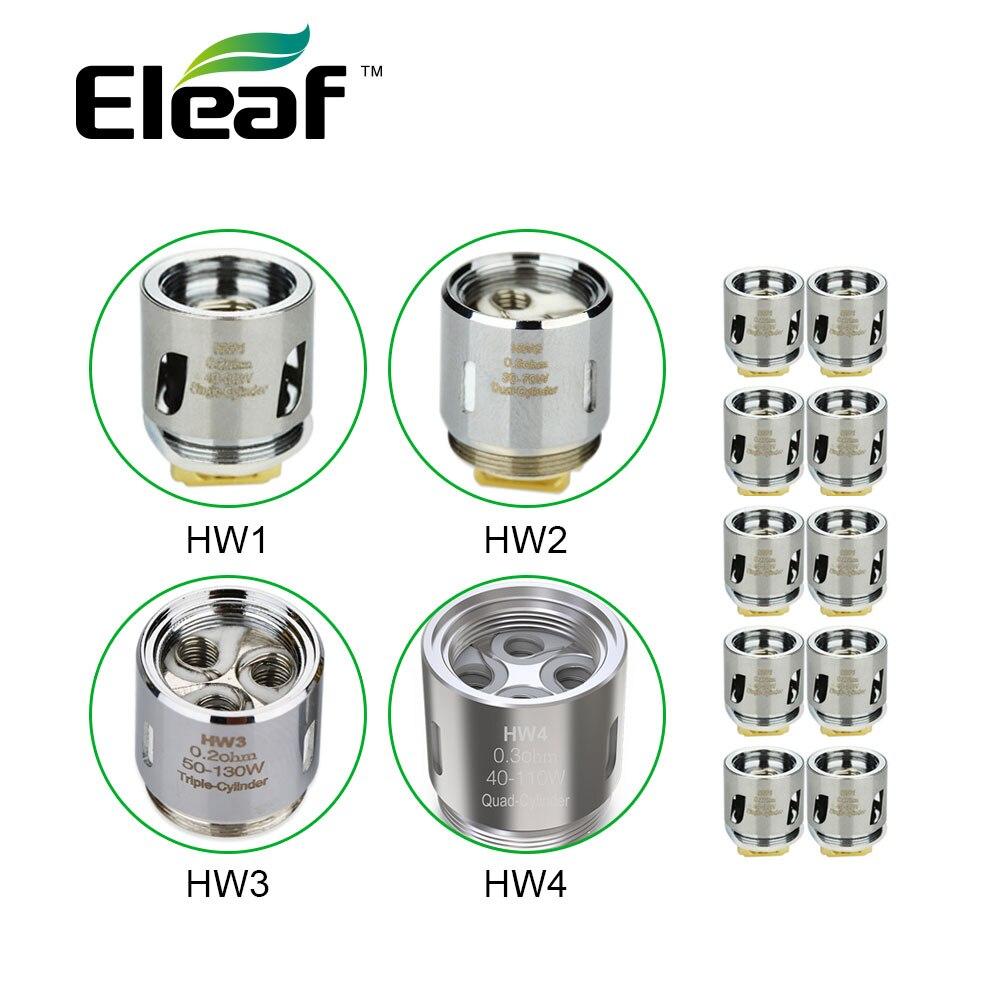 10 pc Eleaf HW cabeça bobina HW1 0.2 ohm/HW2 0.3 ohm por Ello Mini VS HW3 0.2 ohm /HW4 0.2 ohm por Ello/Ello Mini/Ello Mini XL E-cig