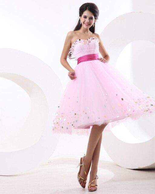Light Pink Corto Vestido de Fiesta Para Los Adolescentes Menores de ...