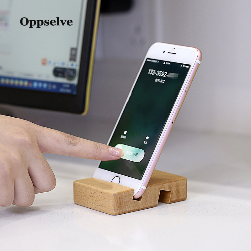 Oppselve Phone Holder Stand For iPhone Xr Xs X 8 Wooden Mobile Phone Stand For Samsung S9 S8 iPad Tablet Stand Desk Phone Holder