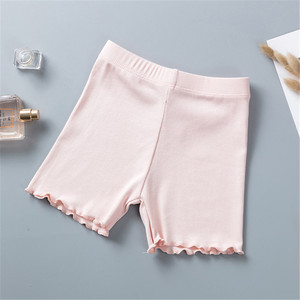 Image 4 - % 100% pamuklu kız güvenlik pantolon en kaliteli çocuklar kısa pantolon iç çamaşırı çocuk yaz sevimli şort külot için 3 11 yıl eski