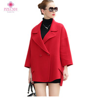 PZLCXH Ladies Wool Jackets Office Fashion 2018 New Coats Camel With Belt Cashmere Overcoats Coat Winter Loose Jackets ZL0999