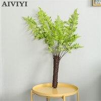 Artificial green plant flower arrangement simulation Nordic fern leaf fake flower Christmas home wedding DIY wall with leaf rest