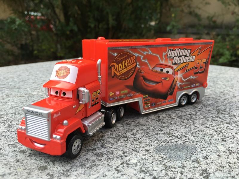 Tomy Tomica Disney Pixar Cars Mack Truck with Trailer Metal Diecast Toy Car New No Package железнодорожный мост tomy tomica 85200