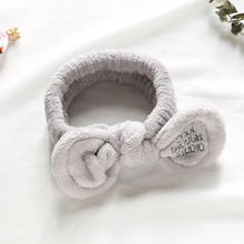 CHIMERA Women Makeup Headbands for Girls Cute Bow Wash Face Headwrap Hair Holder Accessories Soft Flannel Elastic Hairband
