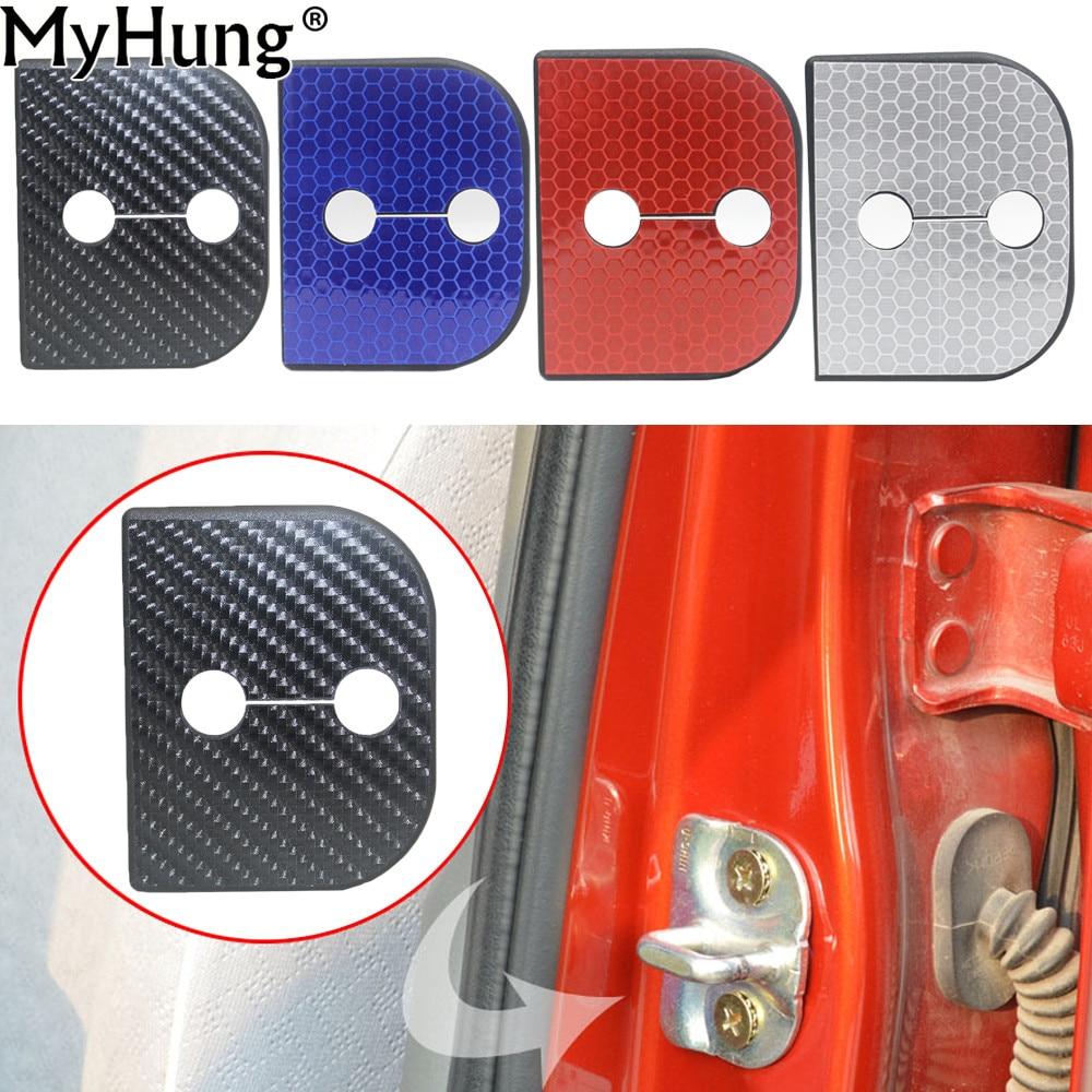 Car Door Lock Cover Catch Buckle Sticker Protector Cover Car Interior Accessories For Suzuki SX4 Jimmy Splash Swift Alto 4pcs