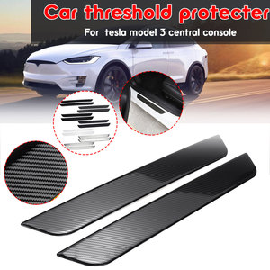 Carbon Fiber Car Front Door Pedal Cars Threshold Protecter For Tesla Model  3 Accessories Car Stickers Car styling 7 Type