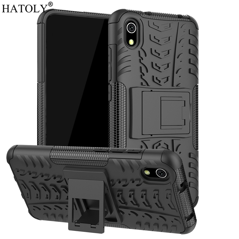 For Xiaomi Redmi 7A Case Heavy Duty Armor Hard Rubber Silicone PC Back Phone Cover for