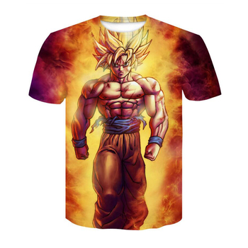 2018 Dragon Ball Super Saiyan T-Shirt Anime DragonBall Z 3D Vegeta Comics T Shirt Men Goku Costume Tees Cartoon Clothes