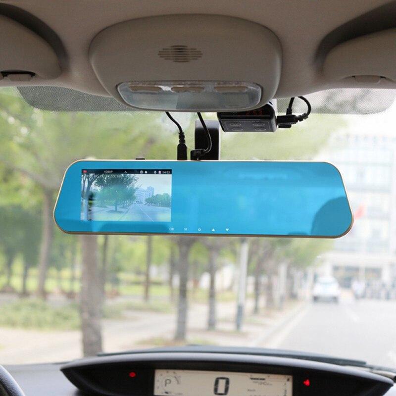 Jansite 1080P automobilinis dvr mėlynas galinio vaizdo veidrodis - Automobilių Elektronika - Nuotrauka 6