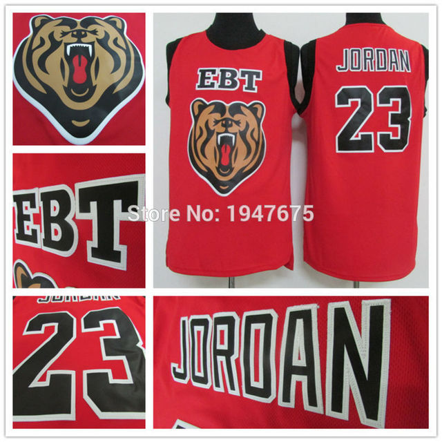 aad62c1482a590 Hot Sale  23 Michael Jordan Jersey New Fabrics Red EBT Retro Throwback  Vintage Basketball Jerseys Best Quality Embroidery Logo