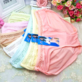 New Cute Silk/Lace Hollow String Girls Briefs Panties Underwear for Women wholesale trade Briefs Knickers Lingerie COUD12
