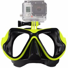 ZJM маска для дайвинга для gopro Крепление закаленное очки для gopro Hero HD 7 6 5 4 3 + 3 Sj4000 SJ5000 камера go pro