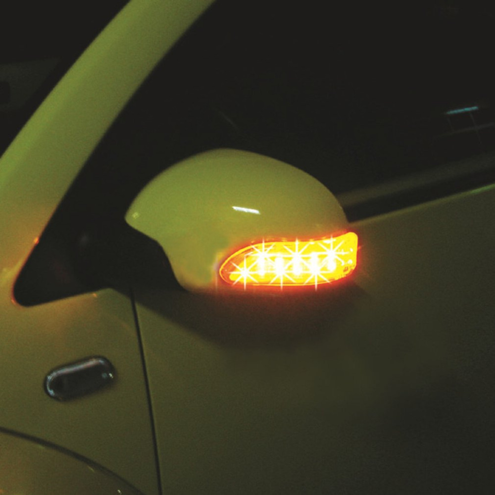 2PCS 13 LED Door Lamp Turn Signals Lamps DC12V Car Auto Rear View Mirror Light Cornering Lamp Car Decorative Light Hot Selling