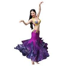 d54a81bbac Desempenho ATS 2018 Mulheres Conjunto de Roupas de Dança Do Ventre Traje  Cigano 2 Pieces Outfit Bra Saia Tribal de Dança Do Vent.