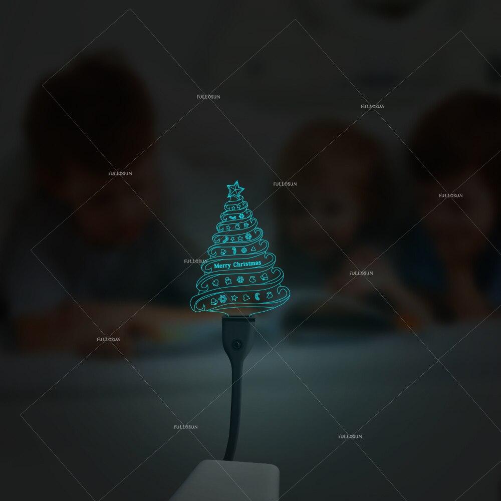 Mini USB Night Lights Christmas Tree Shape 7 Colors Sleep