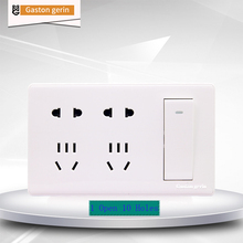 Power Socket Switch Outlet Plug Wall Socket 1 Gang 1 Way Wall Switch Outlet Dual 5 Hole Rocker Switch Panel 10A 110V 220V 250V 5 poles 10a 2p us 3p au wall switch socket with double 2 way dual 2 gang push button