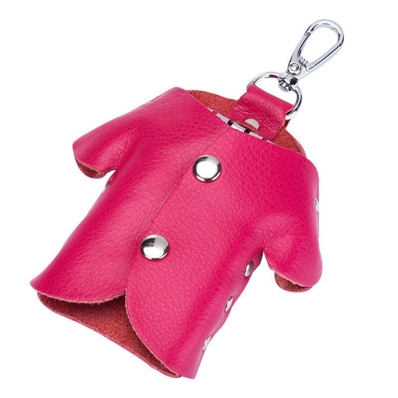 Car Key Wallet Holder Women Men Genuine Leather Unisex Key Purple Organizer Bag Card Holder Housekeeper Wallet