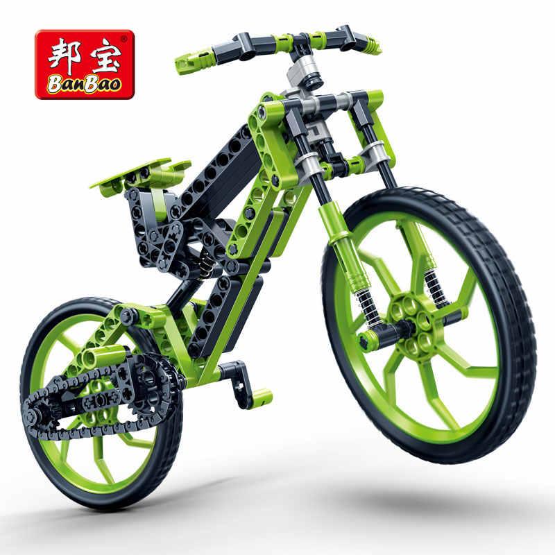 BanBao 6959 Hightech Mountain Bike Educacional Tijolos de Construção de Bicicletas Da Cidade Blocos Criativos Modelo Brinquedos Presente Das Crianças Dos Miúdos