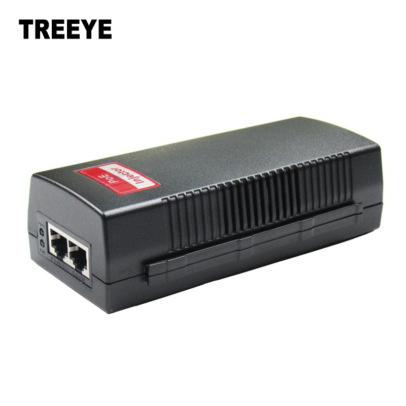 bilder für 10/100/1000 Mbps 30 Watt Gigabyte Poe-injektor Kompatibel mit 802.3at/af PD AC90-260V PoE pin 4,5 (+)/7,8 (-) Midspan PSE801GTM