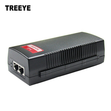 Gigabite 30W POE Injector gigabit POE Power Supply Adapter Compatible W/T IEEE802.3at/af Output DC48V 0.625A 30W 4,5(+)/7,8( )