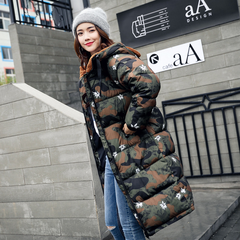 Parkas Women Coats Fashion Autumn Warm Winter Jackets Women Camouflage Long Parka M-2XL Hoodies Casual Cotton Outwear Hot hot sale winter jacket men fashion cotton coat warm parka homme men s causal outwear hoodies clothing mens jackets and coats
