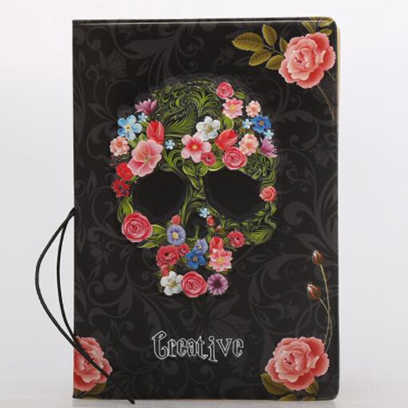 Travel Accessories Cartoon Skull Floral Passport Holder Cover Casual PU Storage Organizer ID Card Case Busines Credit Wallet 3d skull floral pu leather passport cover wallet travel function credit card package id holder storage money organizer clutch