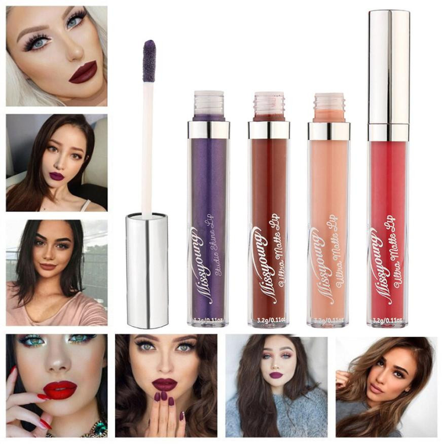 Waterproof Nude Velvet Lipstick Moisturizer Liquid Lips Cosmetic Glossy Lips Gloss Lip Balm Sexy Colors#121