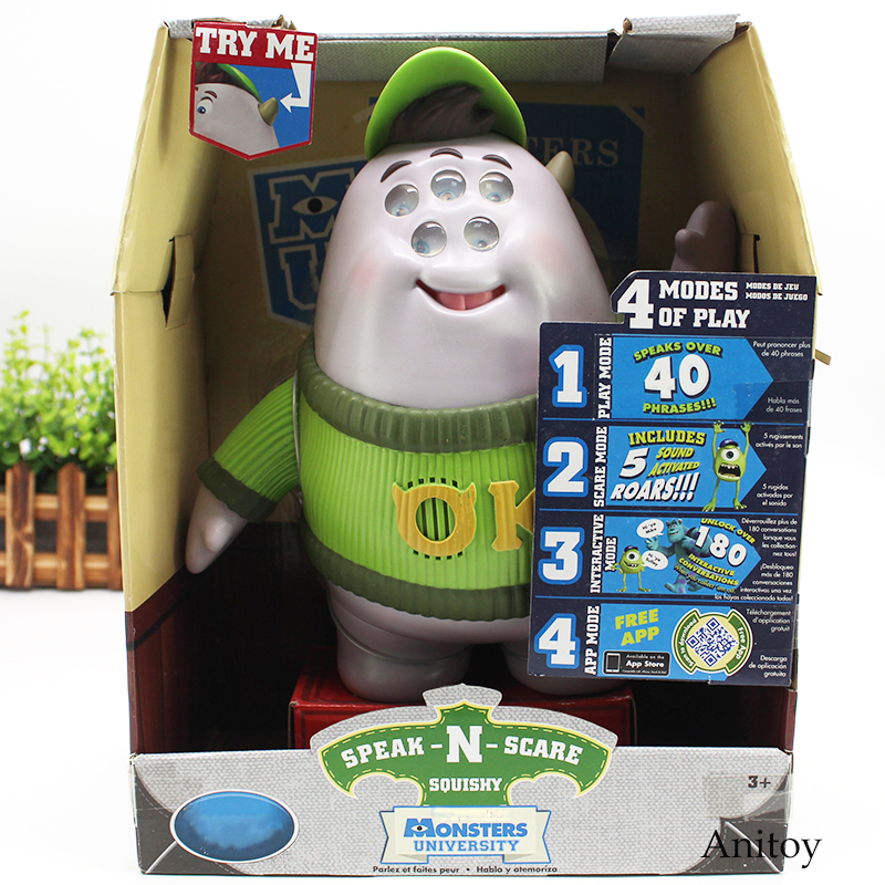 Monsters University Figure Monsters Inc Mike Wazowski / Squishy Speak and Scare Mode Action Figure Toy Gift 25cm                Monsters University Figure Monsters Inc Mike Wazowski / Squishy Speak and Scare Mode Action Figure Toy Gift 25cm