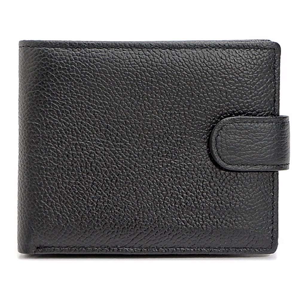 RFID Blocking Genuine Leather Bifold Wallets for Men Credit Card Protector Vintage-Black/Brown