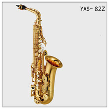 YAS-82Z Saxophone alto Eb sax mouthpiece Gold Lacquer carving pattern gold saxophone with case mouthpiece brass music instrument
