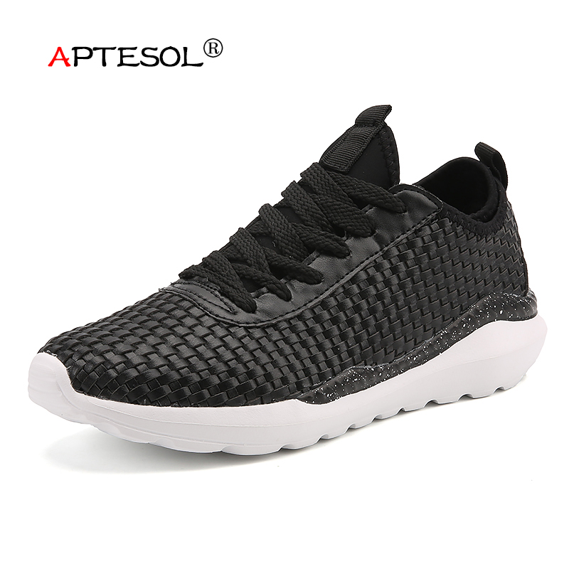 APTESOL Summer Fashion Mens Casual Shoes Daily Men Lightweight Lace-Up Flats Shoes Breathable Anti-Odor Comfortable Sneakers