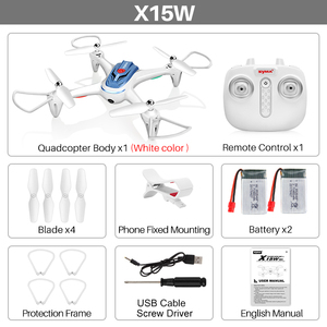 Image 5 - Syma X15W 4 Channel Wi Fi FPV Mobile App Control Quadcopters Quadcopter with Camera  one key take off , 3D Roll , RTF  drone
