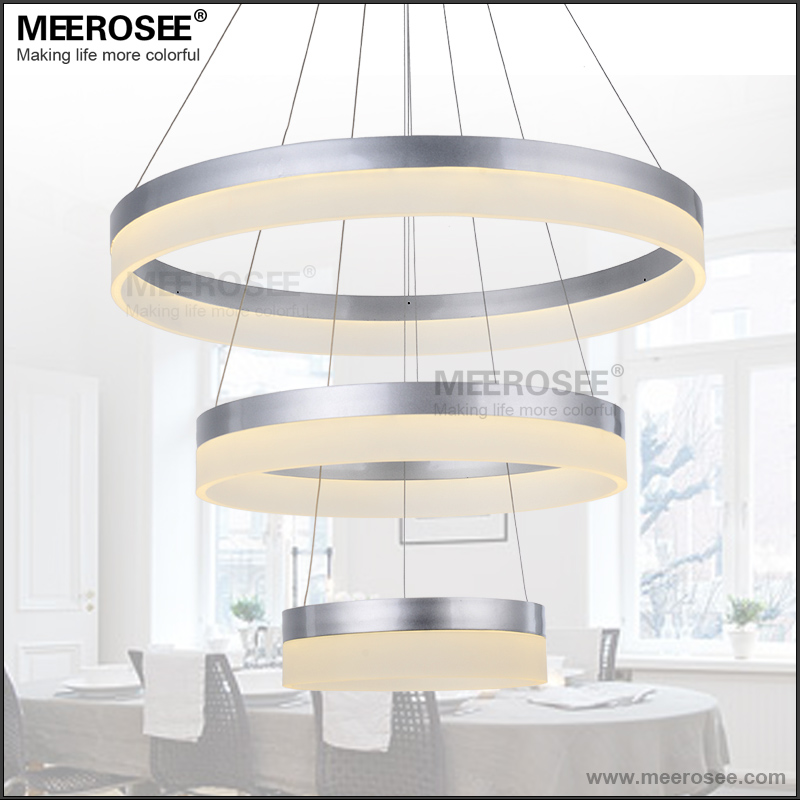 LED Round Pendant Lights Modern Acrylic lampadari for Dinning Room LED Lustres 3 Rings Restaurant LED Light Hanging Lamp FixtureLED Round Pendant Lights Modern Acrylic lampadari for Dinning Room LED Lustres 3 Rings Restaurant LED Light Hanging Lamp Fixture