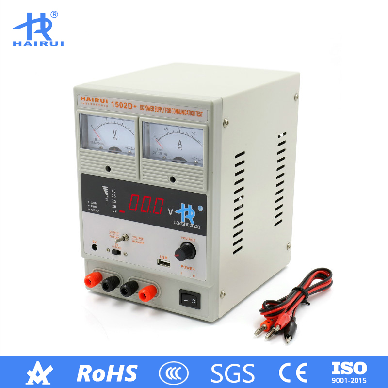 HAIRUI <font><b>1502D</b></font>+ DC Power Supply 110V/220V 2A LED Digital Display Adjustable Regulated Switching Power Supply for Laptop Phone image