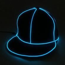 EL вспышки Световой Кепки EL провода моды Неоновый светодиодный Glow костюм вечерние световой Кепки танец Выступления бар подарки