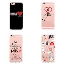 Медсестры медицинская медицина здоровье сердце Мягкий ТПУ чехол для телефона чехол для iPhone 7 7Plus 6 6S 6Plus 5 5S SE для iPhone X