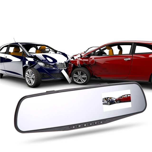 Car-styling car-detector 2.4 Inch Cam Video Recorder Rearview Mirror Car Camera DVR E#A