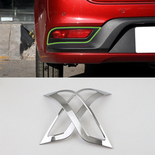 цена на Car Accessories Exterior Decoration ABS Chrome Rear Fog Light Fog Lamp Cover Trim For Kia K2/Rio 2017 Car Styling
