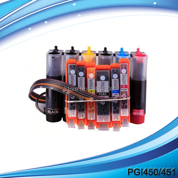 Ink supply system for PGI-450 CLI-451 6C BK BK C M Y GY,pgi-450 cli-451Ciss for Canon PIXMA MG6340,PGI-450 ink tank free shipping pgi 725bk cli 726bk c m y gy compatible for canon ink cartridge for canon mg5270 mg5170 mg6170 mg8170 mg5370