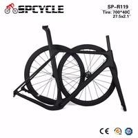 2019 Aero Cyclocross Gravel Bicycle Carbon Frames Road Carbon Wheels,Gravel Disc Brake Bike Framesets Wheelsets 49/52/54/56/59cm