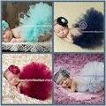 Bebé recién nacido fotografía atrezzo 4 color de encaje princesa falda de la burbuja + hat cap kids baby girl trajes rodaje sets (3-6 m) accesorios