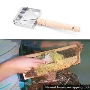Image 5 - Entdeckeln Schaber Waben Honig Schaber Werkzeuge Holzgriff Bienenzucht Werkzeug Ausrüstung Entdeckeln gabel
