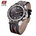 2016 TTLIFE Marca Casual Leather Strap Quartzo Analógico Relógio dos homens Resistentes À Água Relógios De Pulso Masculino Moda Hot Relógios Homens 8104