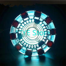 Cool ! 1:1 scale Iron Man Arc Reactor need to assemble Reactor diameter of 8cm with LED Light Action (With English manual)FB0103(China)