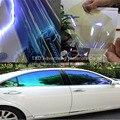 TXD 50x300 cm/LOT Camaleón Ventanilla Del Coche Tinte tinte Película De Vidrio VLT 75% Púrpura a Azul Solar Protección UV Verano Prevenir Ultravioleta