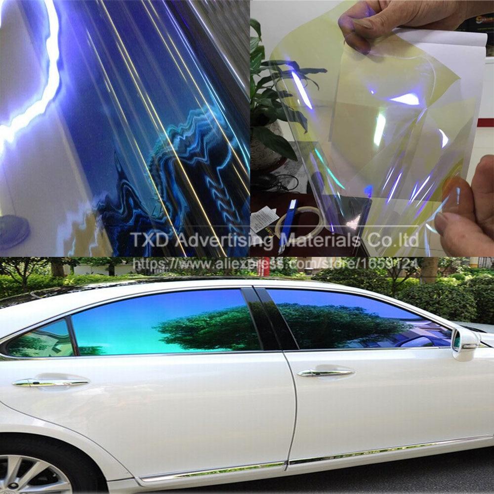 TXD 50x300cm/LOT Car Window Chameleon Tint Tint Film Glass