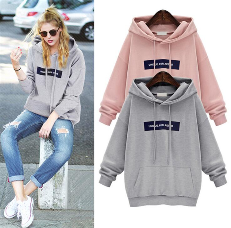 Plus Size Winter Autumn Women Long Sleeve Hoodies Sweatshirt Ladies Hooded Sweater T Shirt Tops Jumper Pullover