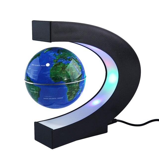 Magnetic floating globe world map c shape led globe lamp gift for magnetic floating globe world map c shape led globe lamp gift for office desk gumiabroncs Gallery